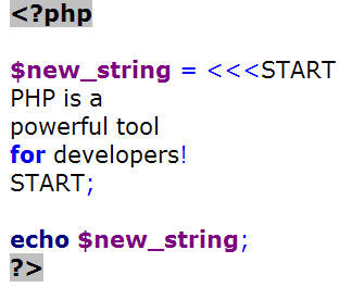 Learn One Thing About PHP from Mary Gillen: Heredoc Sample Code 1