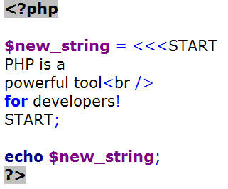 Learn One Thing About PHP from Mary Gillen: Heredoc Sample Code 2